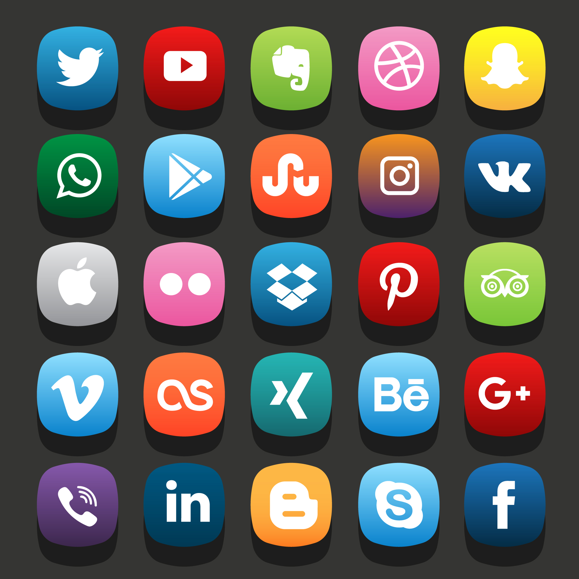 A picture showing the various social media platforms that you can cater to.