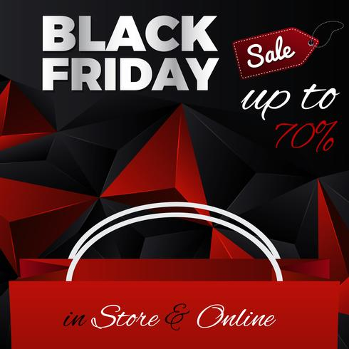 Black Friday Triangular Abstract Background