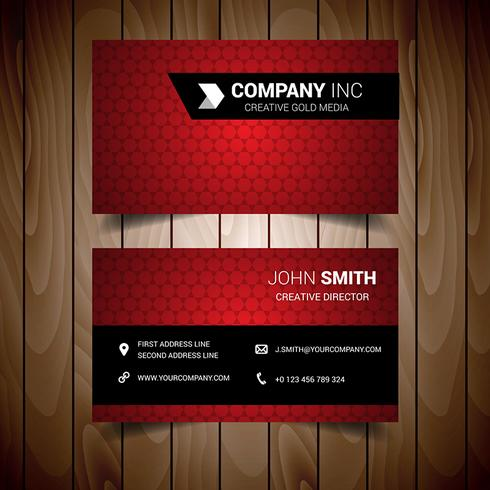 Light Red Business Card