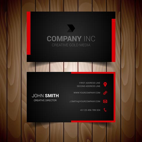 Red Lined Business Card