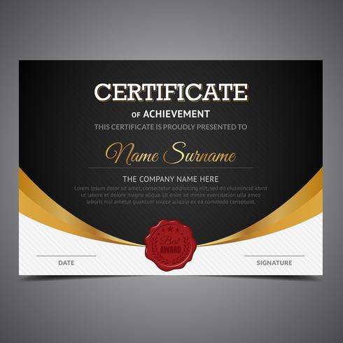 Black And Gold Certificate