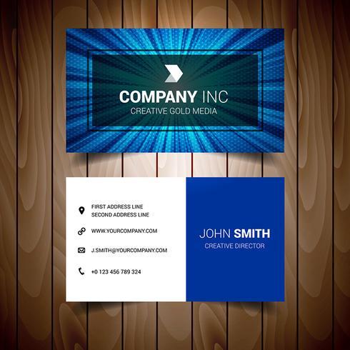 Blue Lighted Elegant Business Card