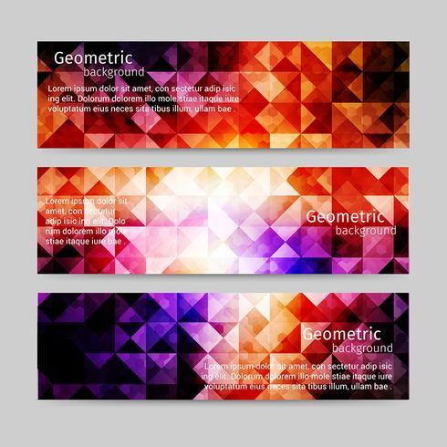 Conjunto de cabeçalho de luz abstrato