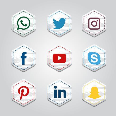 Hexagonal Social Media Collection