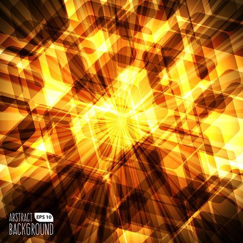 Abstrait lumière hexagone