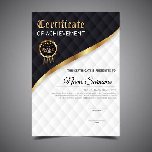 Diploma de modelo de certificado vetor