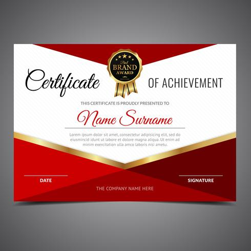 Red Shapes Diploma