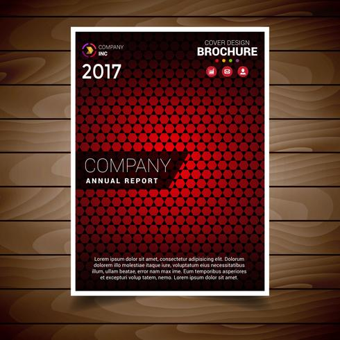 Red Textured Brochure Design Template
