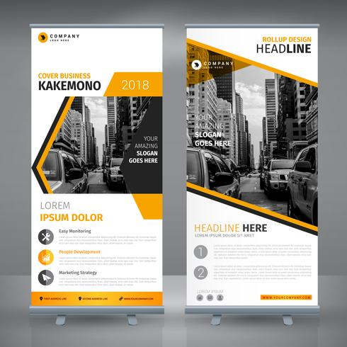 Elegant Yellow Business RollUp