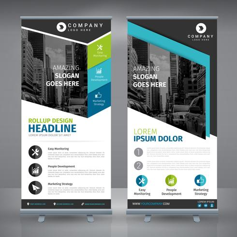 Elegant Blue Business RollUp
