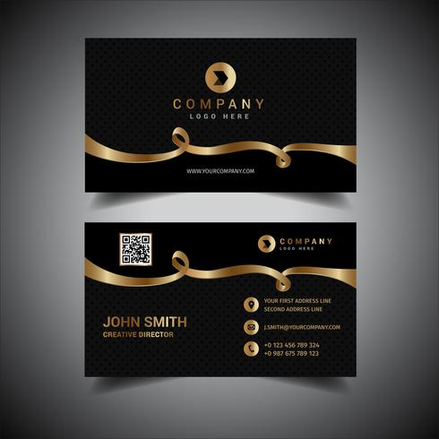 Elegant black and gold business card download vetores e grficos elegant black and gold business card reheart Choice Image