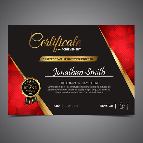 Gold Light Diploma Template