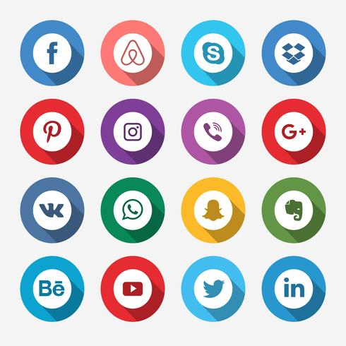Gekleurd Social Media-pictogram