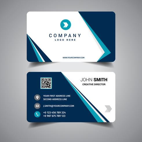 Blue Bordered Business Card
