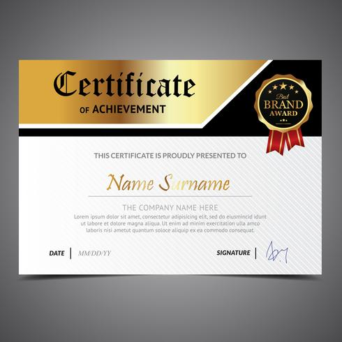 Golden Diploma Template
