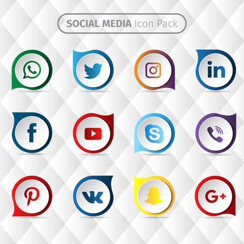 Collection de médias sociaux