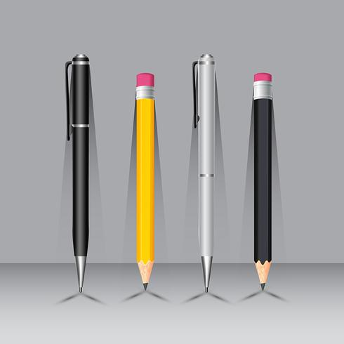 Pen And Pencil On Wall