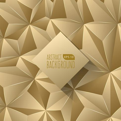 Gold Triangle Abstract Background