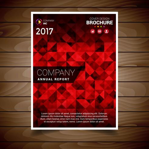 Red Abstract Brochure Design Template