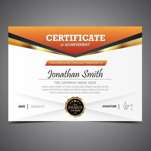 Orange Diploma Template