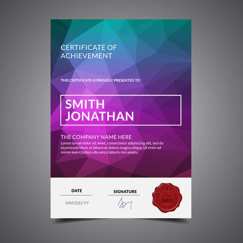 Modern Cool Diploma Template