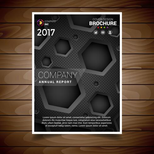 Dark Hexagonal Hole Brochure Design Template