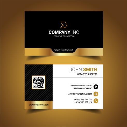 Golden Creative Business Card