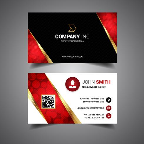 Gold Light Business Card