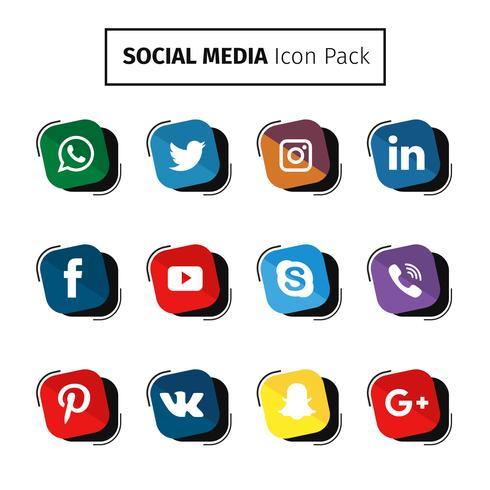 Collection de médias sociaux modernes