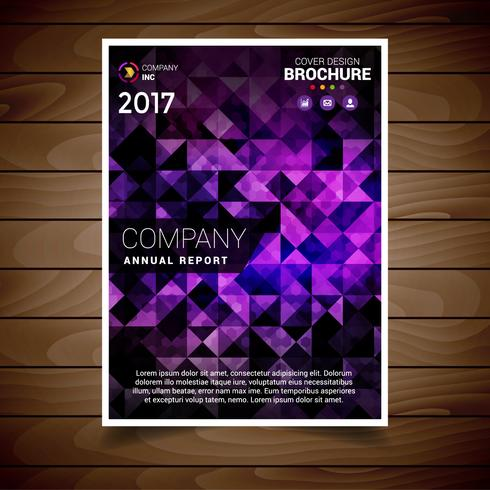 Purple Polygonal Abstract Brochure Design Template