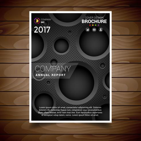 Dark Circular Hole Brochure Design Template
