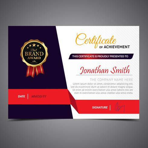 Black And Red Elegant Diploma Template