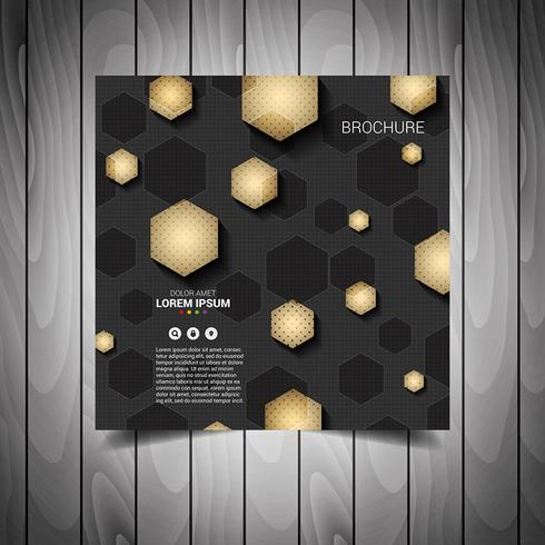 Gold Business Flyer Template