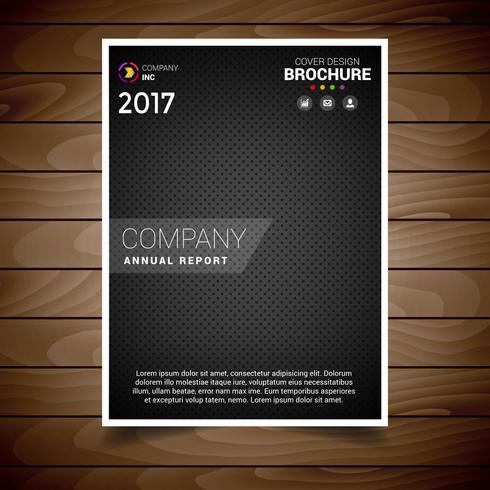 Dark Dotted Brochure Design Template