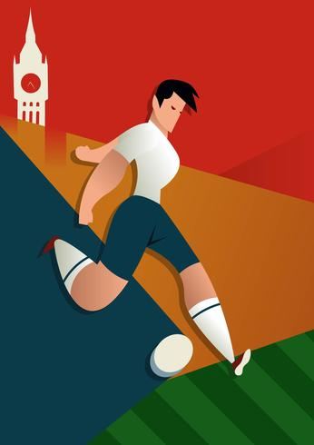 England World Cup Soccer Players Illustration