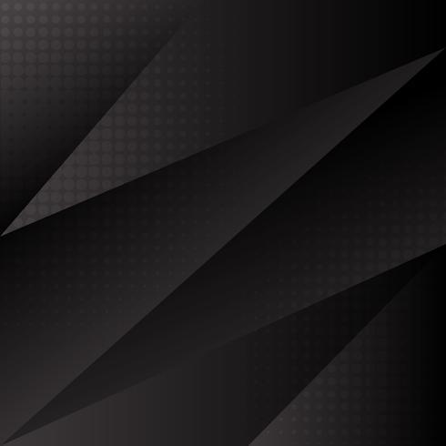 Vector libre fondo abstracto negro con triángulos