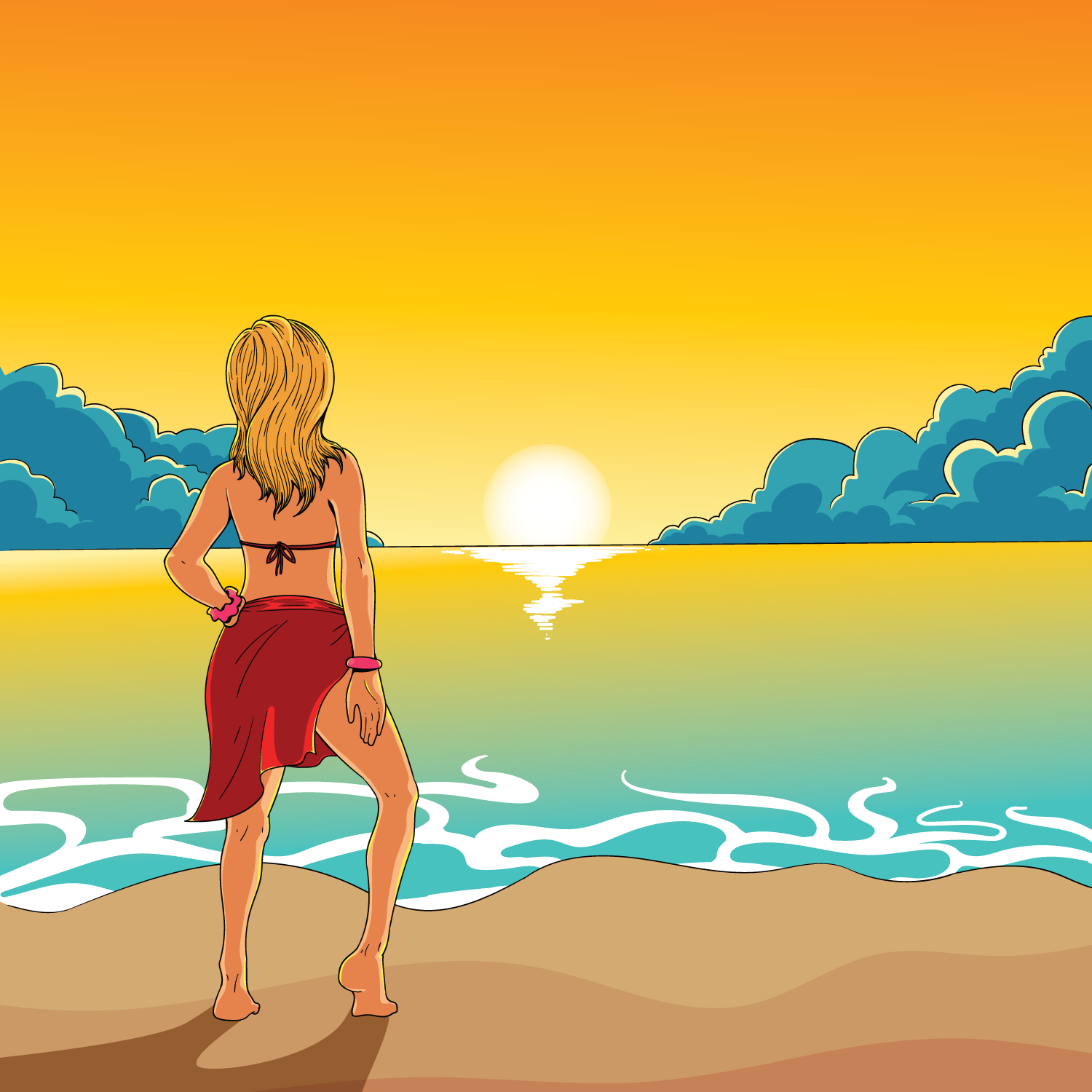 Woman With Beautiful Body In Bikini At Beach Stock Image: Download Free Vectors, Clipart
