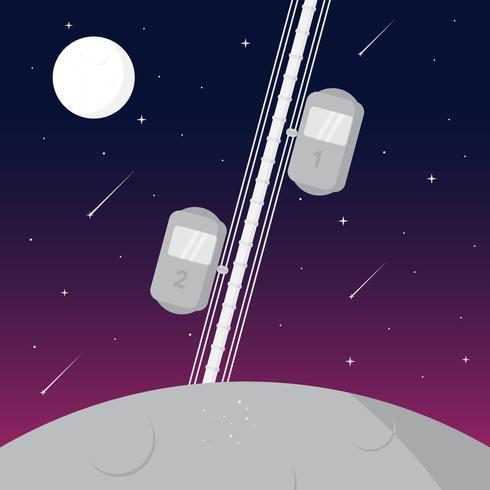 vector de ascensor espacial