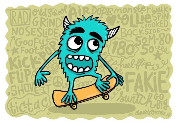 monster skateboarding