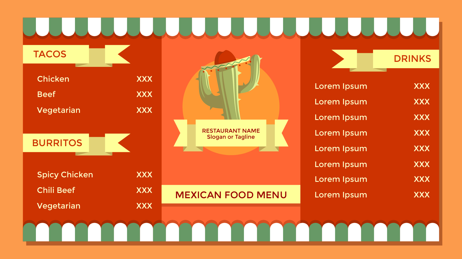 Vintage Mexican Food Menu Template Vector Download Free Vector Art