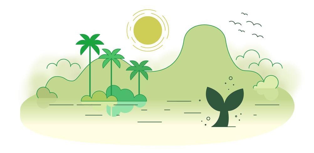 Verlassene Insel Vektor