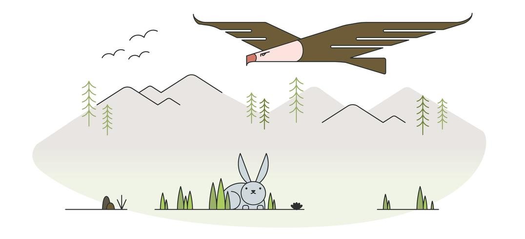 Eagle Hunting Vector