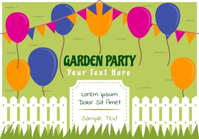 Outstanding Garden Party Invitation Vectors