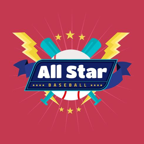 Badge de baseball All Star Vector