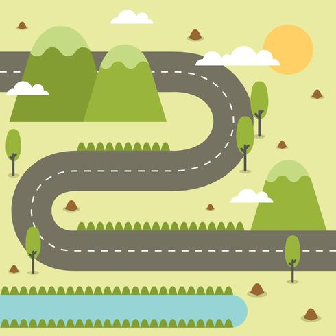 Road Map Illustration vector