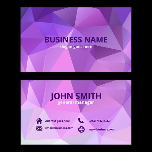 Pink Geometric Business Card Template