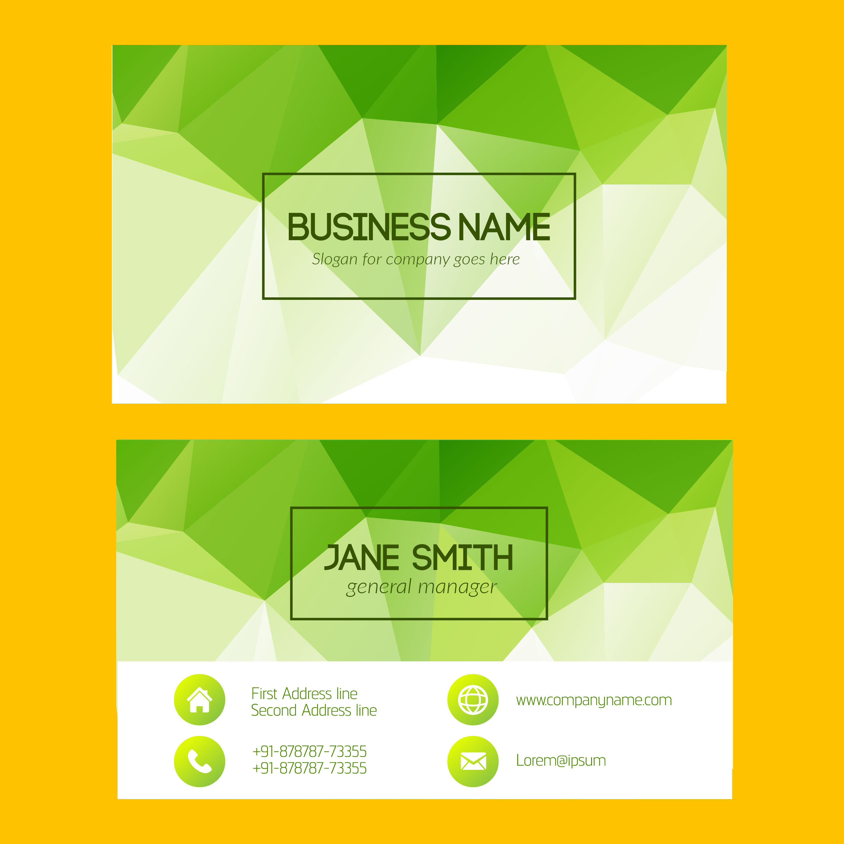 Green business card free vector art 33897 free downloads reheart Choice Image