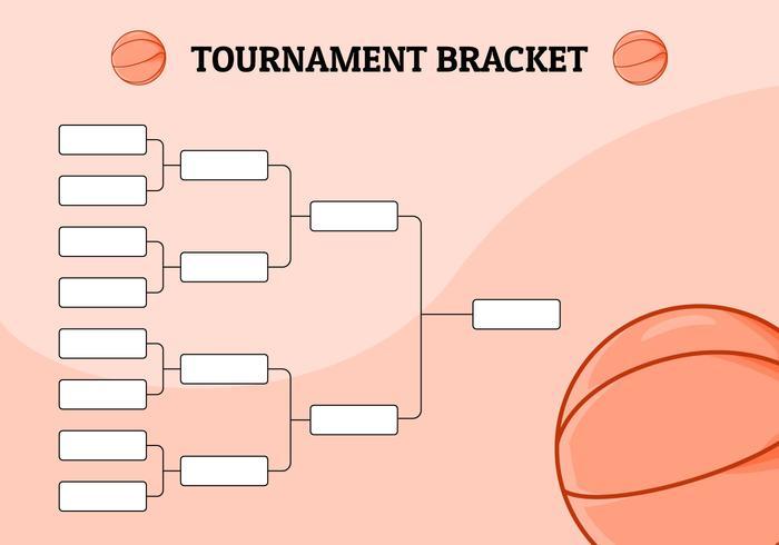 Basketball Tournamen Klammer Abbildung