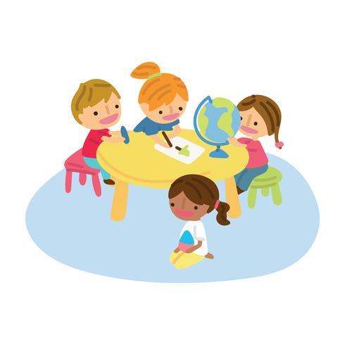 Niños divirtiéndose en el aula