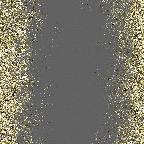 Golden Glitter In A Transparent Background vector